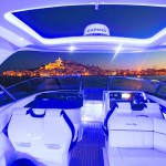 Sea Ray 350 SLX at night