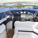 Sunseeker Superhawk 48 Black Fox Cockpit